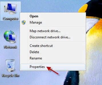 Activating Windows 7 Step 1